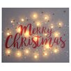 Caracella Illuminated Merry Christmas Textual Art on Wrapped Canvas