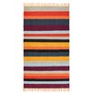 Home Loft Concept Avatar Jacquard Stripe Kilim Red/Yellow Area Rug