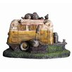 Hazelwood Home Polyresin Camper Van Water Feature Fountain with Light