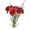 Castleton Home Amaryllis  Floral Arrangements in Vase