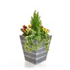 Castleton Home Cedar Pansy Floor Floral Arrangements in Planter