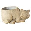 ChâteauChic Charlie Cat Resin Creamic Statue Planter