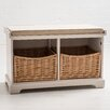 Maine Furniture Co. Newport 2 Basket Storage Hallway Bench