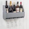 Maine Furniture Co. Lewiston Wine Bottle and Glass Rack