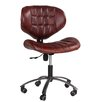 Hazelwood Home Aviator Swivel Leather Desk Chair with Castors