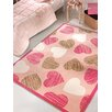Home Loft Concept Charm Machine-Woven Pink Area Rug