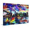 Marmont Hill 'New York's Aura' Painting Print on Wrapped Canvas