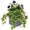 Castleton Home Pansy Floor Floral Arrangements in Planter