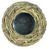 Castleton Home Round Driftwood Accent Mirror