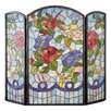 Meyda Tiffany Dragonfly Flower 3 Panel Fireplace Screen