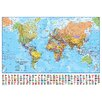 dCor design 'Political World Map with Flags' Graphic Art Print