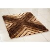 Hazelwood Home 3D Whisper Cross Hand-Tufted Brown Area Rug