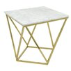 Three Hands Co. Metal and Marble End Table