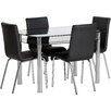 Home & Haus Alyn Dining Set with 4 Chairs