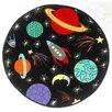 Zoomie Kids Isabel Space Black Rug
