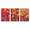 Artist Lane 'Summer Blooms' 3 Piece Painting Print Set on Canvas