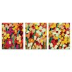 Artist Lane 'Skeeta Daisies' 3 Piece Painting Print Set on Canvas