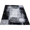 Castleton Home Moon Black/Grey Area Rug
