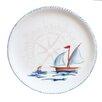 """Abbiamo Tutto Sailboat Round 12.5"""" Dinner Plate"""