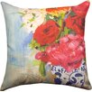 Manual Woodworkers & Weavers Floral Fusion French Flowers  Throw Pillow