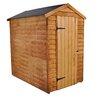 Bel Étage Apex Overlap Dipped 4 Ft. W x 6 Ft. D Wooden Storage Shed