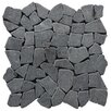 Pebble Tile Fit Random Sized Natural Stone Pebble Tile in Black