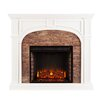 Alcott Hill Galentine Stacked Stone Effect Electric Fireplace
