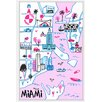 Marmont Hill 'Miami's Hot Spots' Framed Painting Print