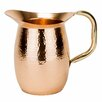 Mint Pantry Hyacinth 2 Qt. Solid Copper Hammered Water Pitcher