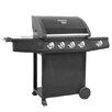 Prestington Mastercook 5-Burner Portable Liquid Propane Gas Barbecue Grill
