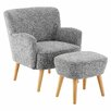 Castleton Home Odense Armchair and Ottoman