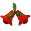 The Holiday Aisle Decorative Décor Pre-Lit Sisal 2-D Bell with Holly Leaf