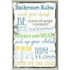 Zipcode Design 'Bathroom Tall Rectangle' Textual Art Wall Plaque