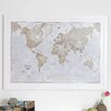 dCor design 'World is Art Map' Graphic Art Print in Neutral Colour