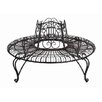 Hazelwood Home Ornate Antique Metal Garden Tree Seat