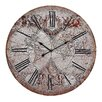 Rosalind Wheeler Oversized Renaissance Style Printed Map 61cm Wall Clock