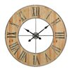 Laurel Foundry OversizedRound Metal and Wood 90cm Wall Clock