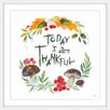 "Marmont Hill ""Today I Give Thanks"" Framed Watercolour Painting Print"