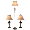 Astoria Grand Macmillan 3 Piece Table and Floor Lamp Set
