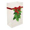 LumaBase Holly Plastic Luminaria Bag (Set of 12)