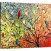 Red Barrel Studio Twenty Seven Birds' by Jennifer Lommers Framed Graphic Art Print on Canvas