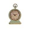 Fleur De Lis Living Metal Vintage Table Clock