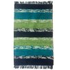 Bayou Breeze Danette Handmade Teal Area Rug