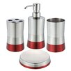 Rebrilliant 4-Piece Bathroom Accessory Set