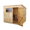 Mercia Garden Products 8 Ft. W x 6 Ft. D Wooden Shiplap Pent Storage Shed