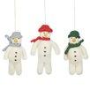 Home Loft Concept Mr. Snowman 3 Piece Hanging Figurine Set