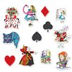 The Beistle Company 12 Piece Alice In Wonderland Cutout Set