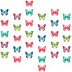 WallPops! 32 Piece Watercolor Butterflies Applique Wall Decal Set