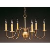 Northeast Lantern Sockets S-Arms Hanging 6-Light Candle-Style Chandelier