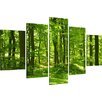 Urban Designs Trees 5 Piece Photographic Print Wrapped on Canvas Set